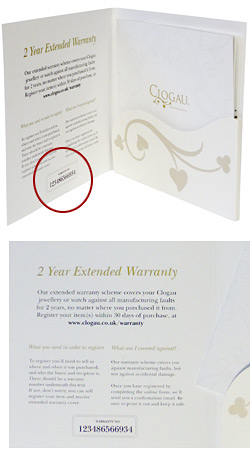 Warranty number on Certificate of Authenticity