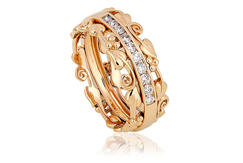 Clogau 1854 Am Byth Diamond Ring