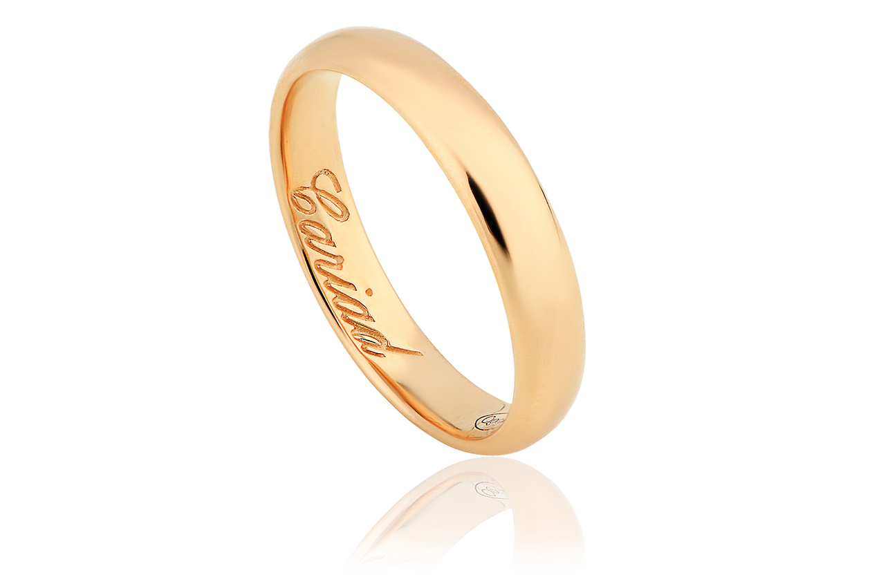 4mm 18ct 1854 Gold Blend Wedding Ring