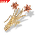 18ct Double Daffodil Brooch *SALE*