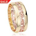18ct Tree of Life Triple Band Wedding Ring *SALE*