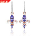 Tanzanite Royal Lily Earrings
