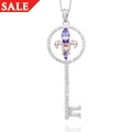 18ct gold Tanzanite Royal Lily Key Pendant *SALE*