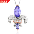 18ct gold Tanzanite Royal Lily Pendant *SALE*
