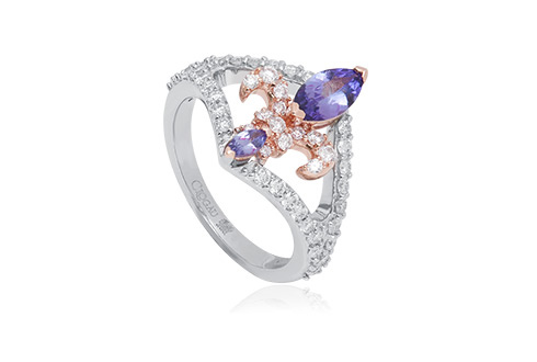 18ct gold Tanzanite Royal Lily Ring *SALE*