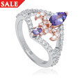 18ct gold Tanzanite Royal Lily Ring