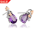 Great Vine Amethyst Earrings