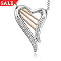 18ct gold Heartstrings Diamond Necklace *SALE*