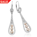 Royal Crown Diamond Drop Earrings