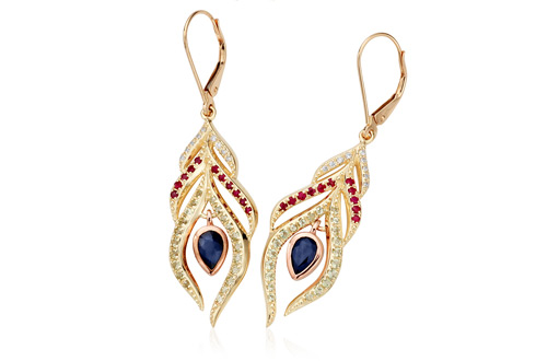 Peacock Throne Drop Earrings *SALE*
