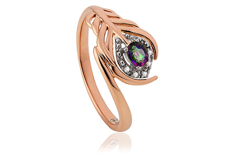 Peacock Throne Diamond Ring SALE Clogau Gold