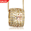 18ct Gold Royal Roses Pendant *SALE*