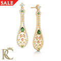 Crown Princess Emerald Earrings