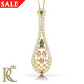 18ct gold Crown Princess Emerald Pendant *SALE*