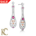 Crown Princess Ruby Earrings