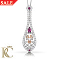 18ct gold Crown Princess Ruby Pendant *SALE*