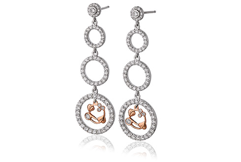 18ct gold Tree of Life Diamond Earrings
