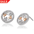 Tree of Life Diamond Stud Earrings