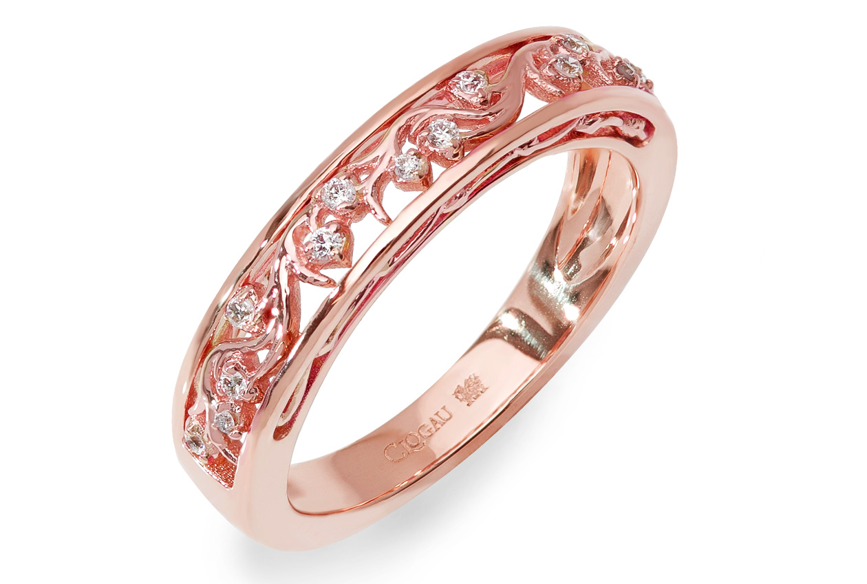 18 Carat Rose Gold Cecilia Wedding Ring | Clogau Gold