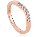18ct Rose Gold Past Present Future Engagement Ring