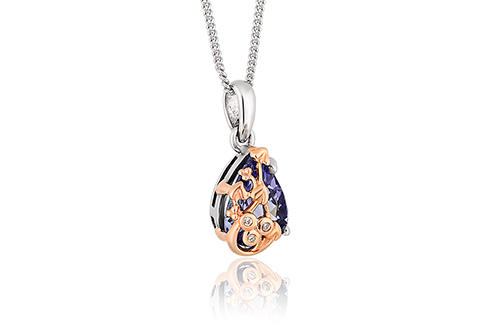 Tree of Life Tanzanite Pendant