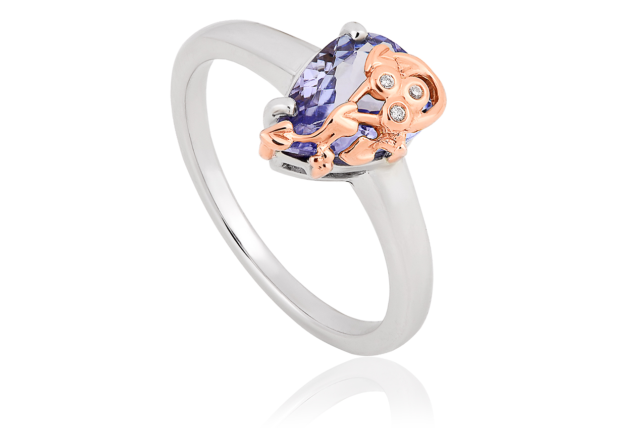 Gold Tree of Life Tanzanite Ring