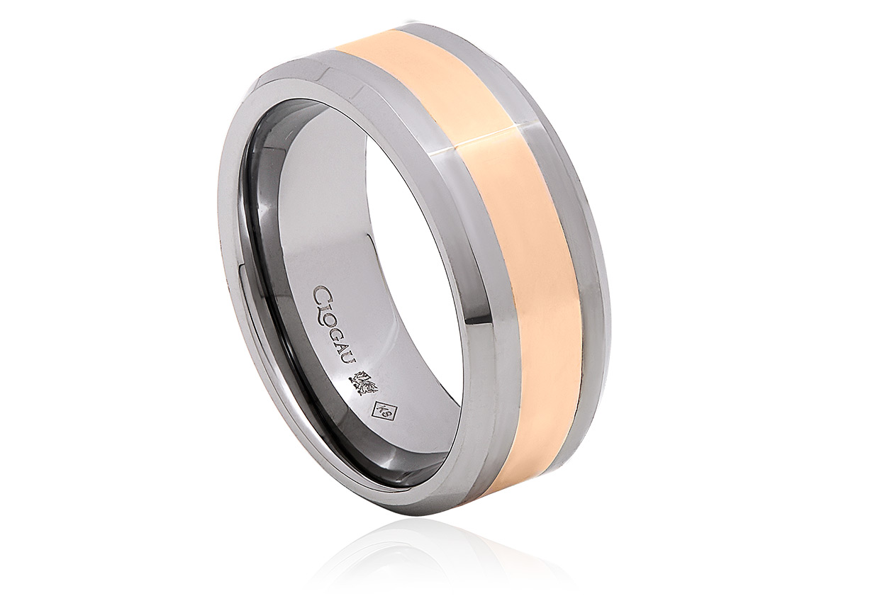 Tungsten 3.5mm Rose Band Ring