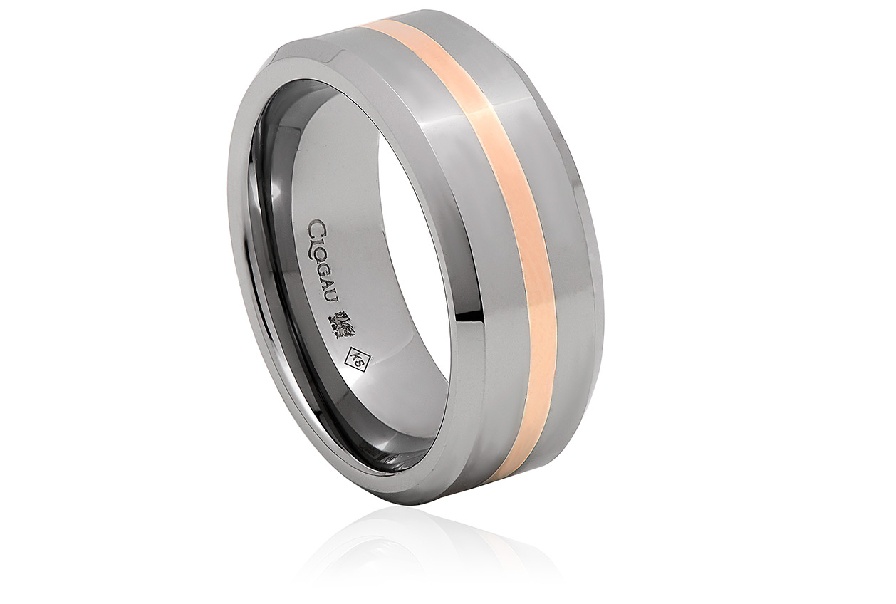 Tungsten 1.5mm Rose Band Ring