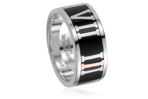 737 Challenge Ring (Black Enamel) *SALE*