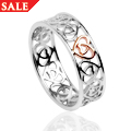Silver & Rose Gold Celtic Heart Ring *SALE*