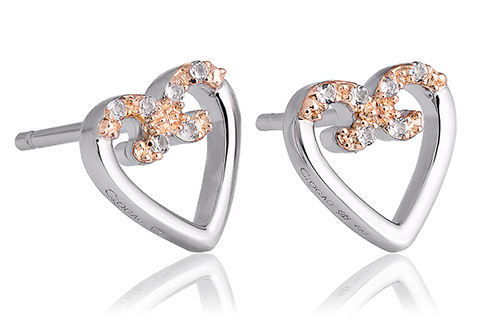 Affinity Heart Stud Earrings