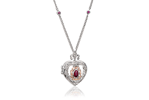 The Two Queens Ruby Locket