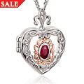 The Two Queens Ruby Locket *SALE*