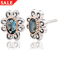 The Two Queens Topaz Earrings *SALE*