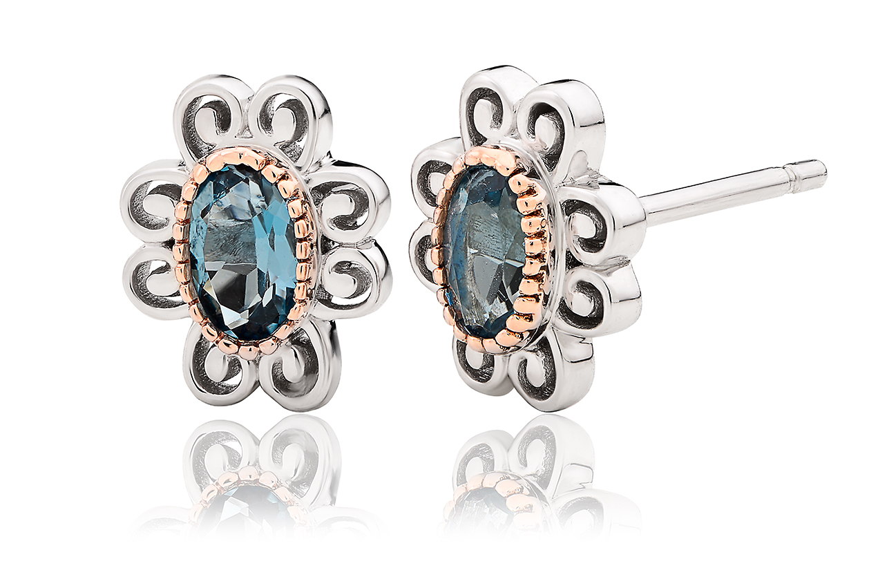 The Two Queens Topaz Earrings