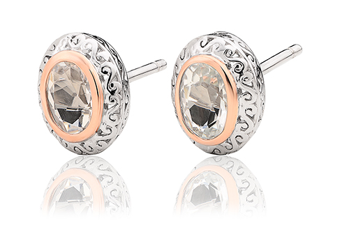 Looking Glass Stud Earrings