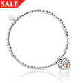 Honey Bee Honeycomb Heart Affinity Bead Bracelet 17-18cm *SALE*