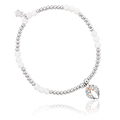Angel Wings Heart Affinity Bead Bracelet 16.5-17.5cm