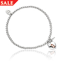 Lock and Key Affinity Bead Bracelet 16.5-17.5cm *SALE*