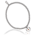 Tree of Life Heart Bead Bracelet 17-18cm