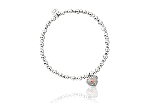 Tree of Life Heart Affinity Bead Bracelet 17-18cm