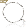 Tree of Life Initials Affinity Bead Bracelet 17-18cm - Letter A