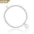 Tree of Life Initials Affinity Bead Bracelet 17-18cm - Letter C