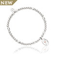 Tree of Life Initials Affinity Bead Bracelet 17-18cm - Letter D