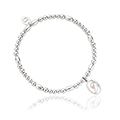 Tree of Life Initials Affinity Bead Bracelet 16-16.5cm - Letter D
