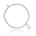 Tree of Life Initials Affinity Bead Bracelet 16-16.5cm - Letter H