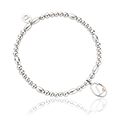 Tree of Life Initials Affinity Bead Bracelet 16-16.5cm - Letter L