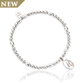 Tree of Life Initials Affinity Bead Bracelet 17-18cm - Letter M