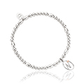 Tree of Life Initials Affinity Bead Bracelet 17-18cm - Letter N