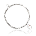 Tree of Life Initials Affinity Bead Bracelet 17-18cm - Letter O